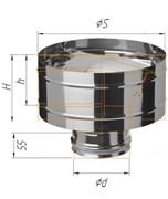 Зонт Craft нержавеющий (316/0,5 мм), ф120, с ветрозащитой, по воде