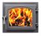 Дверца Везувий чугунная каминная (260) 280*320 мм стекло антрацит - фото 6173