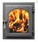 Дверца Везувий чугунная каминная (220) 400*370 мм стекло антрацит - фото 6411